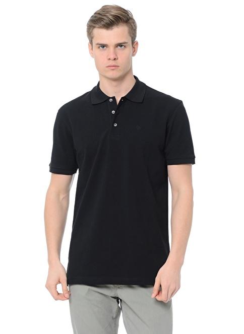 Wrangler Polo Yakalı  Tişört Siyah